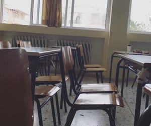 chairs, classroom, and day image
