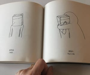 book, sad, and art image