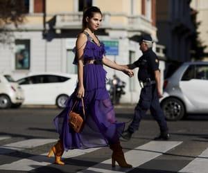 dress, fashion, and hair image