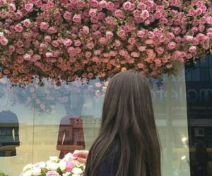 baby girl, flowers, and brown hair image