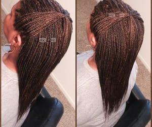braid, hair braiding, and box braids image