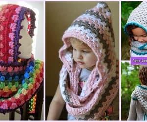 crochet and hoodie cowl image