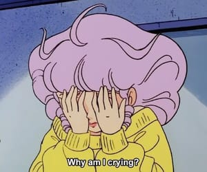 anime, aesthetic, and cry image