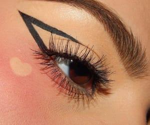 makeup, eye, and heart image