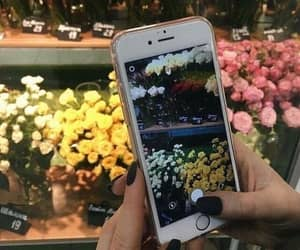 flowers, iphone, and alternative image