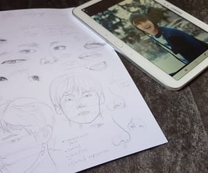 art, asian boy, and draw image