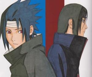 anime, naruto, and itachi image