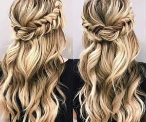 hairstyle, heart, and style image