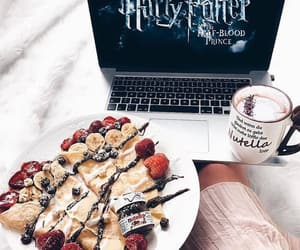 harry potter, pancakes, and chocolate image