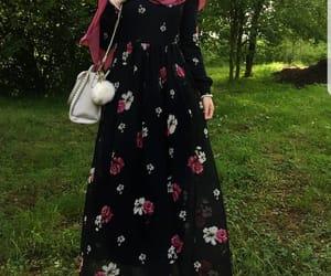 fashion, hijab, and dress image