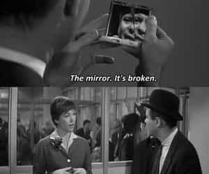 broken, mirror, and quotes image