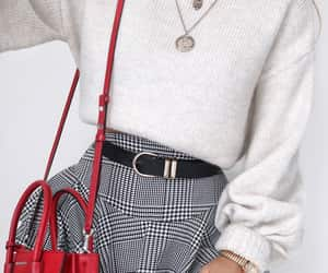 bag, girl, and necklace image