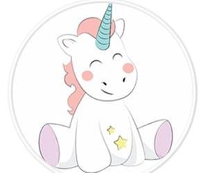 unicorn, background, and rainbow image