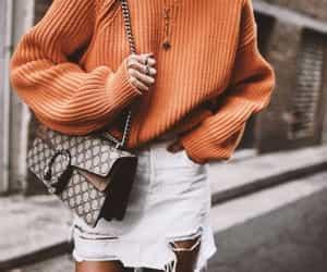 fashion, sweater, and skirt image