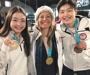 figure skating, pyeongchang, and olympics image