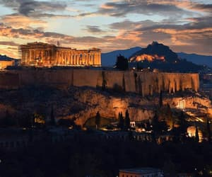 acropolis, ancient, and Greece image