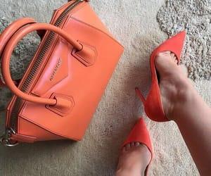 orange, shoes, and bag image