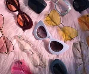 sunglasses, pink, and vintage image