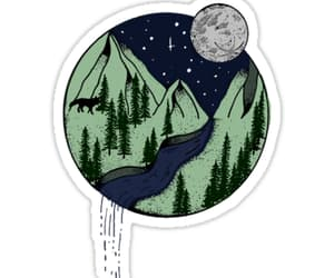 forest, moon, and mountain image