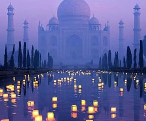 india, travel, and light image