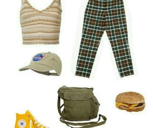 bag, hat, and Polyvore image