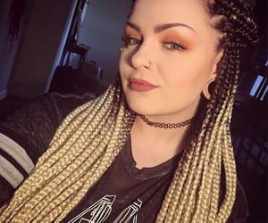 blonde hair, braids, and brown hair image
