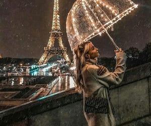 paris, girl, and lights image