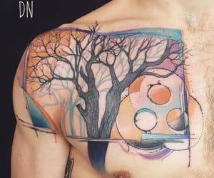 tattoo, tree tattoo, and nature tattoo image