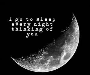 moon, night, and romantic image