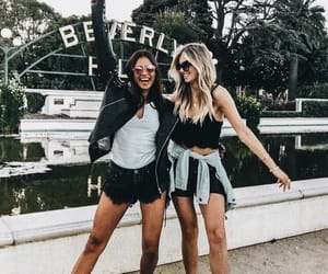 girls, fashion, and friends image
