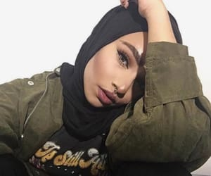 girl, hijab, and beautiful image