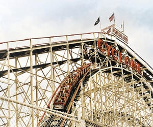 Roller Coaster, vintage, and fun image
