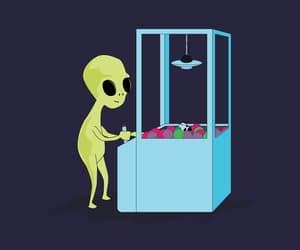 gif, alien, and green image