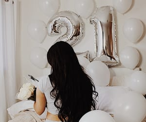 21, balloons, and beauty image