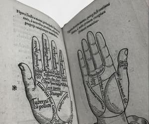 book, hands, and occult image