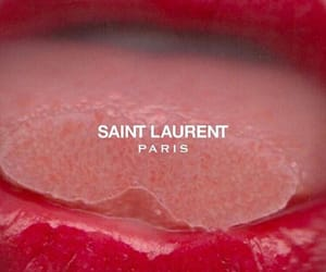 lips, saint laurent, and red image