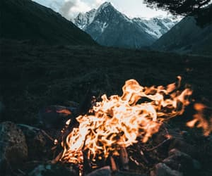 amazing, fire, and landscape image