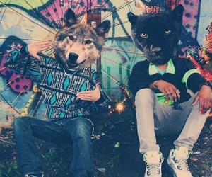 boy, animal, and wolf image
