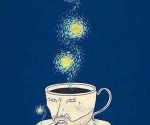 van gogh, art, and coffee image