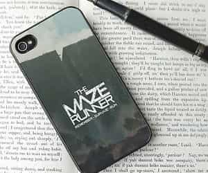 book, iphone, and maze runner image