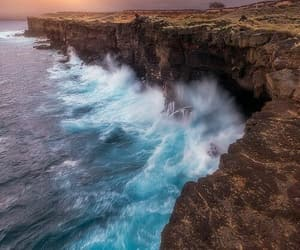 beautiful, nature, and waves image