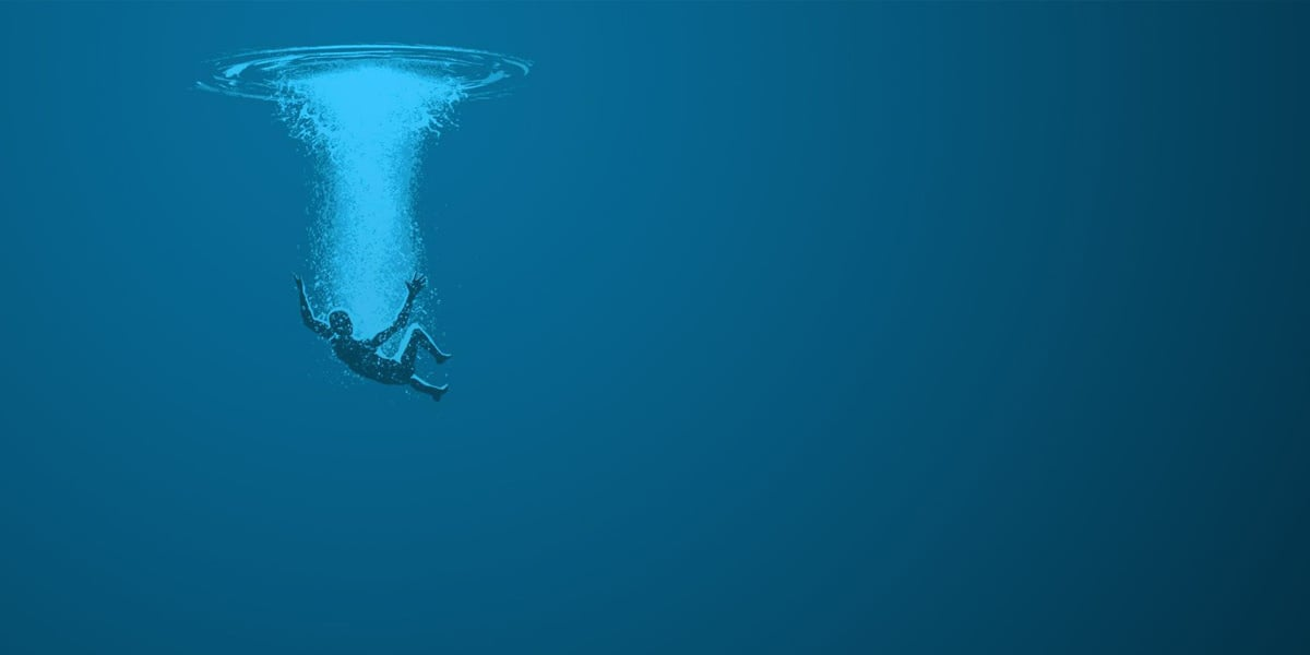 water, blue, and falling image