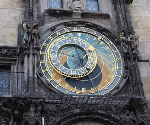 clock, prague, and art image