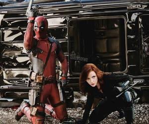 black widow, deadpool, and Marvel image