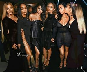 kim kardashian, selena gomez, and ariana grande image