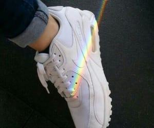 rainbow, nike, and shoes image