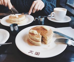 cafe, coffee, and pancake image