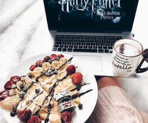 breakfast, coffee, and harry potter image