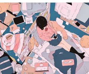 anime, girl, and illustration image