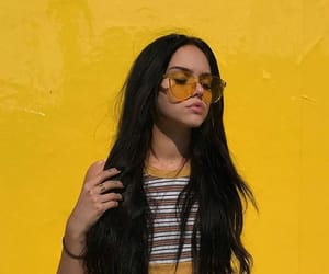 yellow, girl, and tumblr image